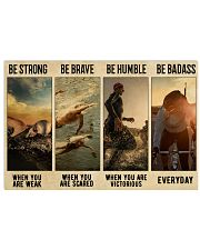 Triathlon Be Strong  36x24 Poster front