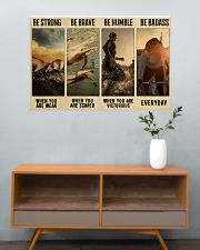 Triathlon Be Strong  36x24 Poster poster-landscape-36x24-lifestyle-21