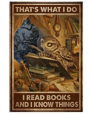 Owl Read Books And Know Things 24x36 Poster front