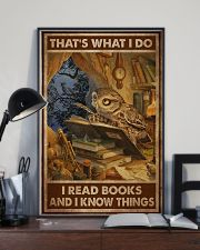 Owl Read Books And Know Things 24x36 Poster lifestyle-poster-2