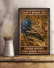 Owl Read Books And Know Things 24x36 Poster lifestyle-poster-3