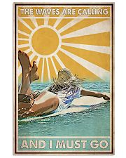 Surfing The Waves Are Calling 24x36 Poster front