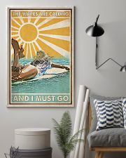 Surfing The Waves Are Calling 24x36 Poster lifestyle-poster-1