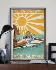 Surfing The Waves Are Calling 24x36 Poster lifestyle-poster-2