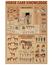 Horse Care Knowledge 16x24 Poster front