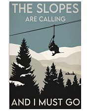 Skiing Slopes Are Calling Retro 2 24x36 Poster front