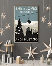Skiing Slopes Are Calling Retro 2 24x36 Poster lifestyle-holiday-poster-1
