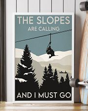Skiing Slopes Are Calling Retro 2 24x36 Poster lifestyle-poster-4