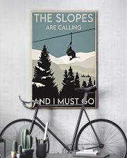 Skiing Slopes Are Calling Retro 2 24x36 Poster lifestyle-poster-7