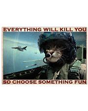 Cat Pilot Choose Something Fun  36x24 Poster front