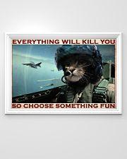 Cat Pilot Choose Something Fun  36x24 Poster poster-landscape-36x24-lifestyle-02