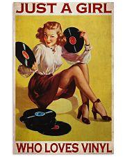 Just A Girl Loves Vinyl  Vertical Poster tile