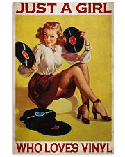 Just A Girl Loves Vinyl  24x36 Poster front