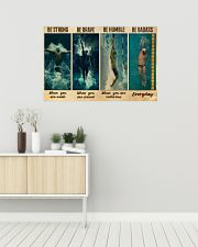 Man Swimming Be Strong 36x24 Poster poster-landscape-36x24-lifestyle-01
