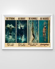 Man Swimming Be Strong 36x24 Poster poster-landscape-36x24-lifestyle-02