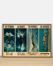 Man Swimming Be Strong 36x24 Poster poster-landscape-36x24-lifestyle-03