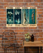 Man Swimming Be Strong 36x24 Poster poster-landscape-36x24-lifestyle-20