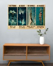 Man Swimming Be Strong 36x24 Poster poster-landscape-36x24-lifestyle-21