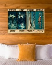Man Swimming Be Strong 36x24 Poster poster-landscape-36x24-lifestyle-23