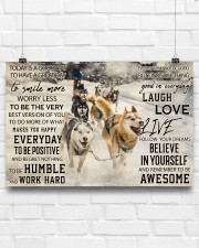 Sled Dog Today Is A Good Day 36x24 Poster aos-poster-landscape-36x24-lifestyle-16