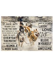 Sled Dog Today Is A Good Day 36x24 Poster front