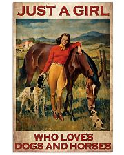 Girl Loves Horses And Dogs 24x36 Poster thumbnail