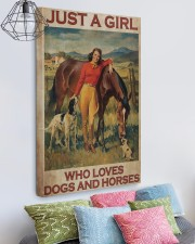 Girl Loves Horses And Dogs 20x30 Gallery Wrapped Canvas Prints aos-canvas-pgw-20x30-lifestyle-front-02