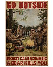 Camping Bear Go Outside Vertical Poster tile