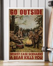 Camping Bear Go Outside 24x36 Poster lifestyle-poster-4