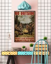 Camping Bear Go Outside 24x36 Poster lifestyle-poster-6