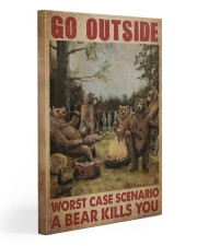 Camping Bear Go Outside Gallery Wrapped Canvas Prints tile