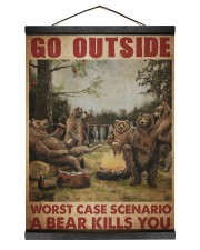 Camping Bear Go Outside Hanging Canvas tile