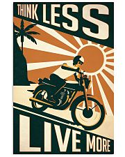 Motorcycle Think Less Live More 24x36 Poster front
