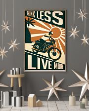 Motorcycle Think Less Live More 24x36 Poster lifestyle-holiday-poster-1