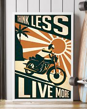 Motorcycle Think Less Live More 24x36 Poster lifestyle-poster-4