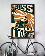 Motorcycle Think Less Live More 24x36 Poster lifestyle-poster-7