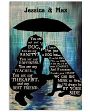 Lady And Dog In The Rain 24x36 Poster front