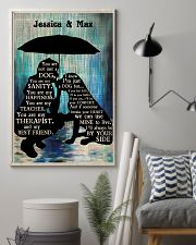Lady And Dog In The Rain 24x36 Poster lifestyle-poster-1