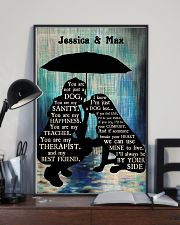 Lady And Dog In The Rain 24x36 Poster lifestyle-poster-2