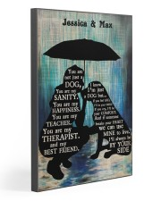 Lady And Dog In The Rain Gallery Wrapped Canvas Prints tile