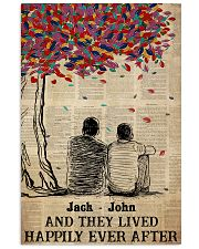 Gay Couple Happily Ever After Vertical Poster tile