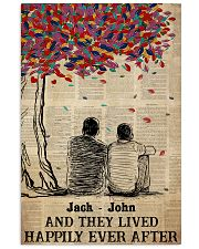 Gay Couple Happily Ever After 24x36 Poster front
