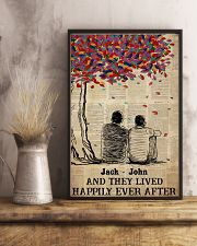 Gay Couple Happily Ever After 24x36 Poster lifestyle-poster-3