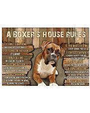 A Boxer's House Rules 36x24 Poster front