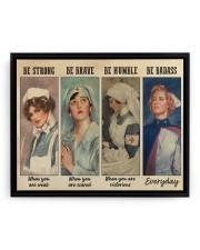 Nurses Be Strong BF 14x11 Black Floating Framed Canvas Prints aos-floating-black-framed-canvas-pgw-14x11-front-02