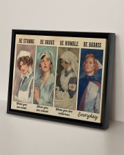 Nurses Be Strong BF 14x11 Black Floating Framed Canvas Prints aos-floating-framed-canvas-pgw-14x11-black-lifestyle-front-06