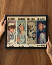 Nurses Be Strong BF 14x11 Black Floating Framed Canvas Prints aos-floating-framed-canvas-pgw-14x11-black-lifestyle-front-14