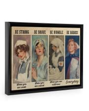 Nurses Be Strong BF 14x11 Black Floating Framed Canvas Prints front