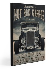 Hot Rod Garage BW  Gallery Wrapped Canvas Prints tile