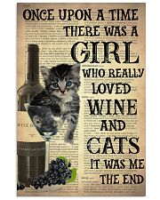 Cat Wine Glass  24x36 Poster front